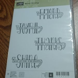 Banner Blessings Stampin Up Set New